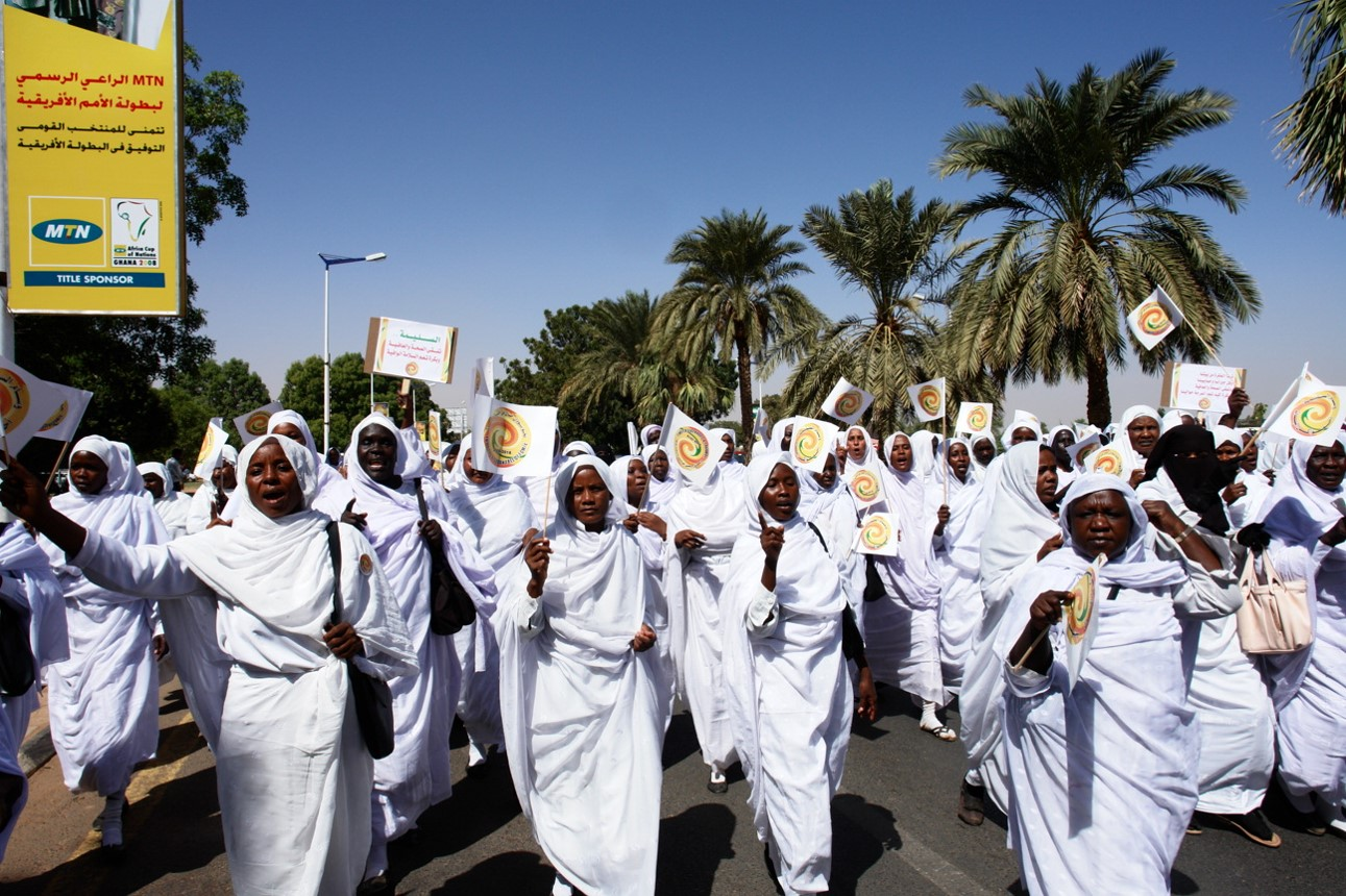 Equality activists protesting in Sudan