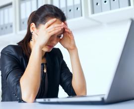 Women upset at work