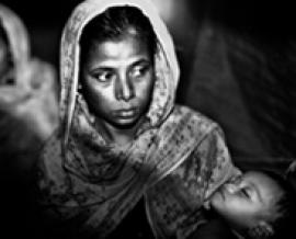 Rohingya woman with child
