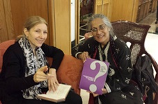 Dimitrina Petrova, Equal Rights Trust Director, meeting with Tahira Abdullah, human rights and development activist, Islamabad, June 2015
