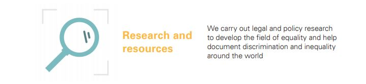 We carry out legal and policy research to develop the field of equality and help document discrimination and inequality around the world