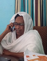 Asma Taha, daughter of the religious reformer Alustadh Mahmoud Mohammed Taha executed in 1985, campaigns against religious discrimination in Sudan. January 2014, Khartoum