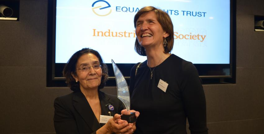 Professor Anna Lawson accepts equality award